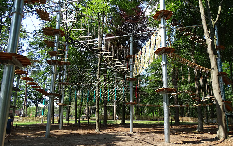 Outdoor High Rope Park Equipment